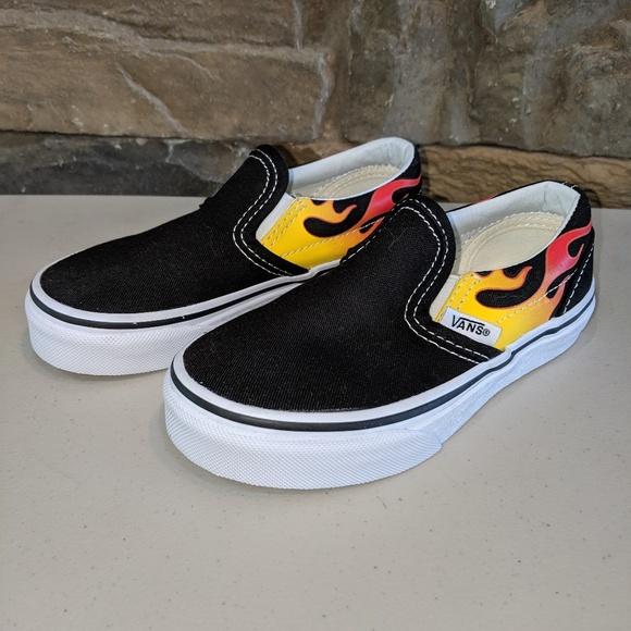 Vans Shoes | Vans Slip On Flame Flames